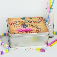 Alice In Wonderland Mad Hatter Sewing Kit Tin Hobby Craft Sweetie Box Gift AW03
