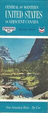 1965 CHEVRON STANDARD OIL Road Map CENTRAL & WESTERN UNITED STATES Route 66