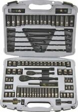 NEW STANLEY 92-839 99 PIECE BLACK CHROME DELUXE SOCKET TOOL SET KIT WITH CASE