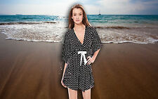 NWT GOTTEX Tea at 3 POLKA DOT BAT-WING TUNIC BATHING SUIT COVER UP sz - XL