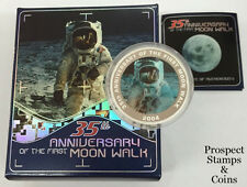 2004 35th Anniversary of the First Moon Walk 1oz Silver Australian Proof Coin