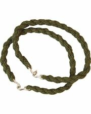 10 X OLIVE GREEN COLOURED PAIR ARMY TROUSER TWISTS / BUNGEES CADETS RAF Forces