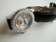 HENRI LAPOINTE ladies watch,great working cnd,automatic,ceramic,leather,