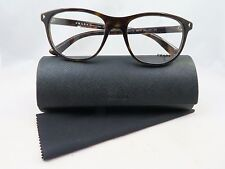 Prada VPR 17R 2AU-1O1 Dark Havana New Authentic Eyeglasses 56/19/145mm w/Case