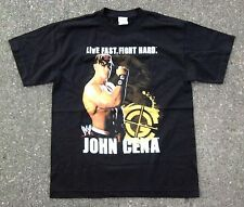 John Cena 'Live Fast Fight Hard' WWE Shirt ~ Youth L/XL ~ Black SS WWE Champion