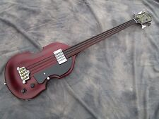 EB-1 Fretless Epiphone Bass with Adjustable/Removeable Endpin and Original Case!