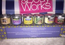 Bath & Body Works 1.3oz Lot of 6 Provence Garden Mini Candle Boxed Set Rare HTF