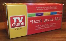 Don't Quote Me Adult Board Game TV Guide Edition Family Party Trivia