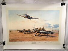 Hunters in the Desert Me109 Robert Taylor Luftwaffe Signed Aviation Art SOLD OUT