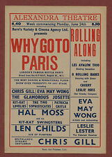 ALexander Theatre. 'Why go to Paris' Eva May Wong. Hal Moss. Len Childs. s229