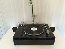 PIANO BLACK LENCO L 75 / L 78 XL TWIN TONEARM  Plinth Zarge