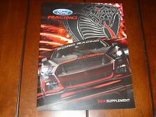 2014 FORD RACING PARTS CATALOG 2015 MUSTANG 302 SHELBY 34 PAGES