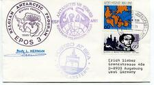 1989 Belgian Antarctic Program Epos 3 Antarktis VII European Polar Cover SIGNED