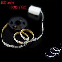 Fahrrad licht LED Strip Kaltweiss 1M + Lichtschalt + Batterie BOX Streifen B1C