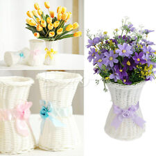 New Artificial Rattan Vase Flower Fruit Candy Storage Basket Garden Party Decor