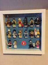 LEGO Series 2 ( 8684 ) Mini-figure Full Set of 16 In Display Frame Rare