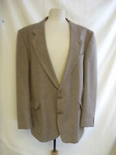 "Mens Suit Jacket - Dunn & Co, 46""R, 35% wool, light brown, 70's?, used - 1587"