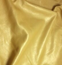 METALLIC GOLD Supple Lambskin Leather Hide Piece #03