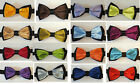 CHILDRENS/KIDS/BOYS/GIRLS SHINY SATIN FINISH PRE-TIED TWO TONE FASHION BOW TIES