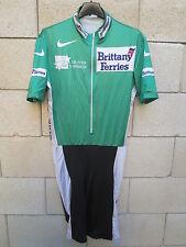 Maillot cycliste combi cuissard vert LE TOUR DE L'AVENIR Nike cycling jersey XL