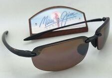 Polarized MAUI JIM Sunglasses HO'OKIPA MJ 407-02 Black Frame w/HCL Bronze Lenses
