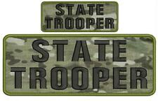 "state TROOPER embroidery patches 4 X 10"" and 2x5 hook multicam"