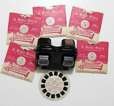 Vintage SAWYER'S Bakelite View Master  w/6 reels 1947 BIBLE STORY Lot, xclnt