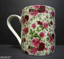 Heron Cross Pottery Summertime Chintz  Bone China One Pint Pot Mug 18-20Floz
