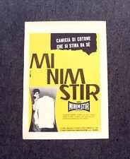 M306- Advertising Pubblicità -1960- MINIM STIR , IL TESSUTO CHE SI STIRA DA SE'
