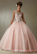 Quinceanera Dress New Ball Gown Beaded Bridal Cocktail Party Prom Dresses Custom