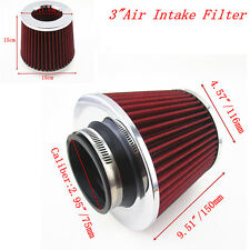 "3"" 75mm Car SUV Pickup High Flow Turbo Cold Air Intake Vent Cone Filter Cleaner"