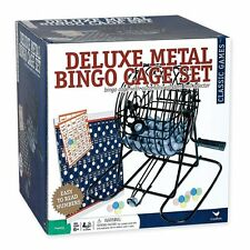 Deluxe Wire Cage Bingo Set with Balls and Cards, New, Free Shipping