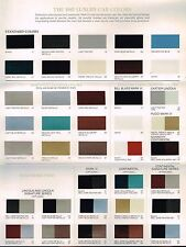 1982 LINCOLN Issued COLOR Chip CHART Paint Brochure : CONTINENTAL, MARK MK. 6 VI