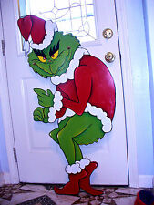 48'' X 22''  GRINCH THAT STOLE THE CHRISTMAS LIGHTS  YARD ART