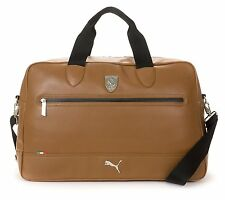2017 Puma Ferrari Ls TAN WEEKENDER VIAGGIO BORSA UOMO AUTHENTIC TEAM BAG RRP £ 140