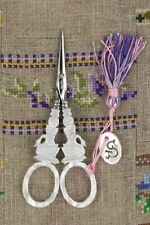 "French Sajou Scissors Mother of Pearl  Style ""Swan"" embroidery scissors"