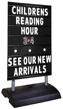 STANDARD BLACK SPRINGER SIDEWALK MESSAGE BOARD SIGN SAME DAY SHIP