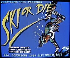 Commodore 64/128: SKI OR DIE for C64 disk - TESTED by Electronic Arts