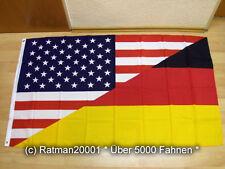 Fahnen Flagge Deutsch USA Freundschaft - 90 x 150 cm
