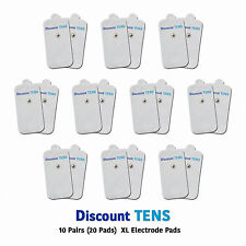 TENS XL Snap On Electrode Pads, 10 Pairs (20 Pads)