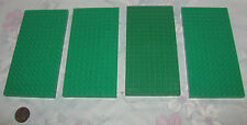 Lot of 4 Vintage Lego Base Plate Raised Platforms Old Green 10 X 20 Part 700