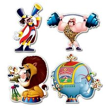 4 Big Top CIRCUS Die-cut CUTOUT Decorations*CARNIVAL*Circus B-DAY PARTY