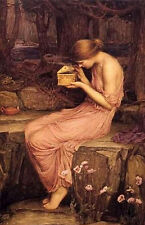 Oil painting Psyche Opening the Golden Box by waterhouse in forest canvas 36""