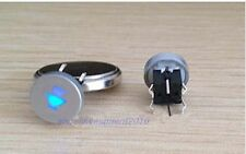1pc Blue Led Dia 10mm Cap  SPEAKER  12V Momentary Tact Push Button Switch