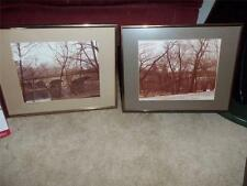 LOT OF 2 PICTURES FRAMED MATTED OF THE BRIDGES OF WILMINGTON DELAWARE F. MORGAN