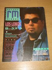 RECORD MIRROR 1987 AUG 8 LOS LOBOS B52S STARSHIP BIG AUDIO DYNAMITE SIOUXSIE