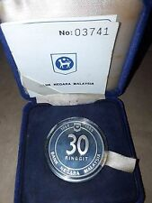 Malaysia 30th Anniversary of Bank Malaysia Silver Proof Coin  1989