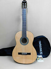 Suzuki SCG-7S Solid Spruce Top Classical Guitar + Gig Bag Strings - Factory 2nd