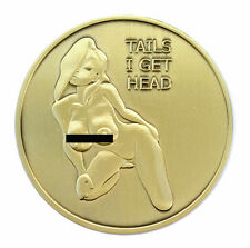 Pin Up Heads and Tails Good Luck Challenge Coin - FREE SHIPPING in USA!