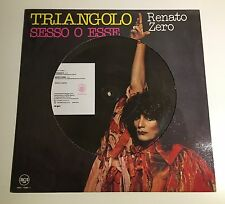 "RENATO ZERO ""TRIANGOLO / SESSO O ESSE"" RARO LP 1995 PICTURE DISC LIMITED ED"